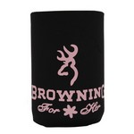 Browning Black/Pink Can Coozies