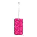 Plastic Neon Luggage Tag Neon Pink