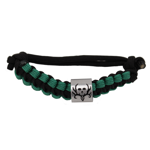 AES Outdoors AES Outdoors Bone Collector Survival Bracelet Black/Green BC-SB-001
