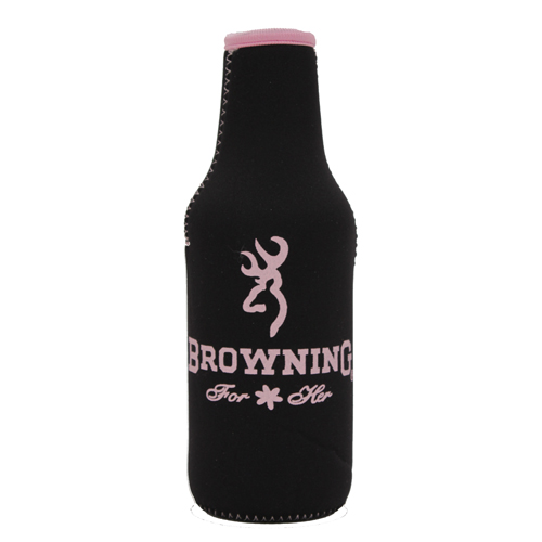 AES Outdoors AES Outdoors Browning Bottle Coozie Black/Pink BR-BTL-Pink