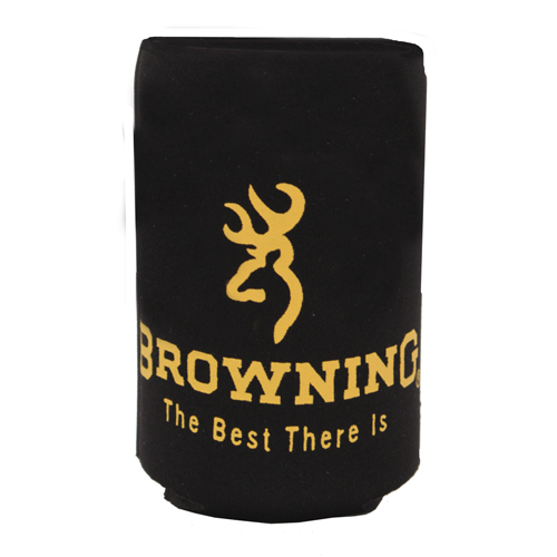AES Outdoors AES Outdoors Browning Can Coozie Black/Yellow BR-CAN-Black