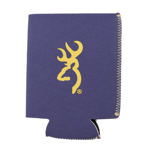 AES Outdoors AES Outdoors Browning Can Coozie Navy/Yellow BR-CAN-NY