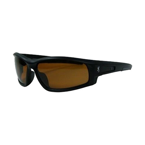 AES Outdoors AES Outdoors Browning M-Pact Sunglasses Matte Black Frame/Polarized Amber BRN-MPA-002