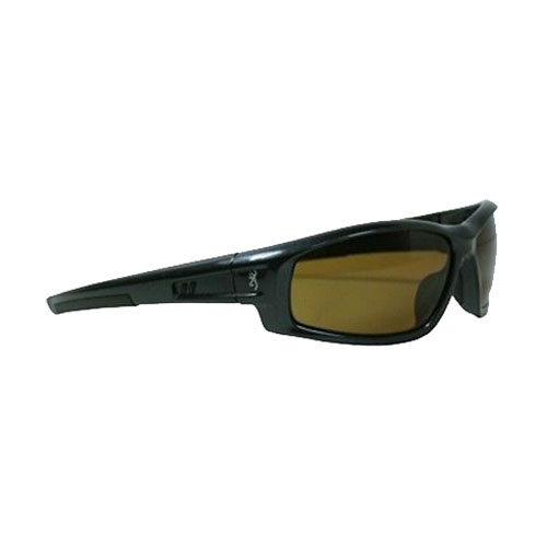AES Outdoors AES Outdoors Browning M-Pact Sunglasses Gunmetal Frame/Polarized Gold Lens BRN-MPA-006