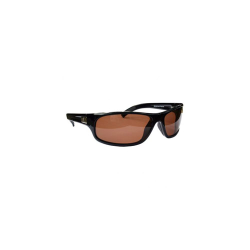 AES Outdoors AES Outdoors Browning Safari Sunglasses, Polarized Lens Amber Lens, Black Frame BRN-SAF-002