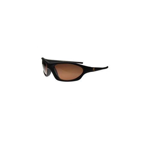 AES Outdoors AES Outdoors Browning Sniper Black PC Frame, Polarized Lens Sunglasses Amber Lens BRN-SNI-002