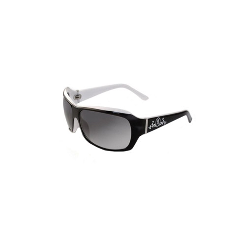 AES Outdoors Browning Suzie Sunglasses, Polarized Black & White Acetate Frame, Grey Lens