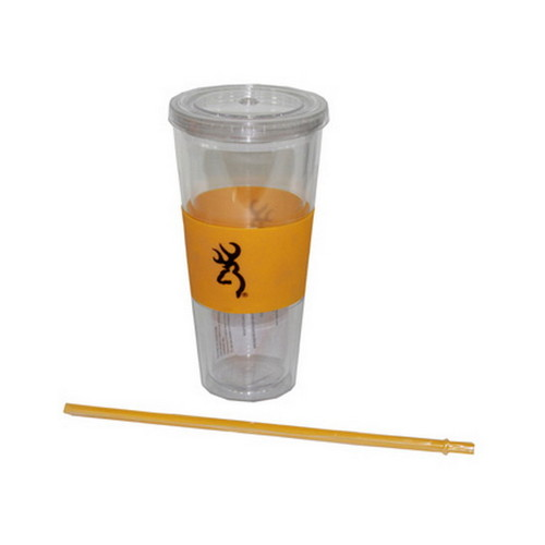 AES Outdoors AES Outdoors Browning 20oz Insulated Cup,Straw Black/Gold BRN-CUP-001