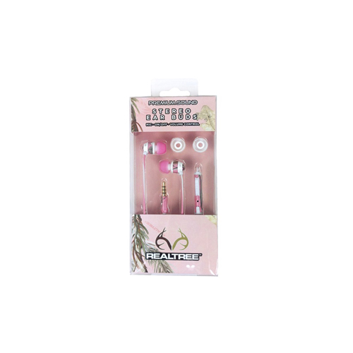 AES Outdoors AES Outdoors Realtree Ear Buds Pink Camo RT-EBP