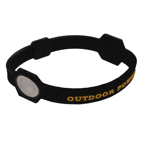 AES Outdoors AES Outdoors Team Realtree Outdoor Power Bracelet Medium, Black RT-PB-M-BLK