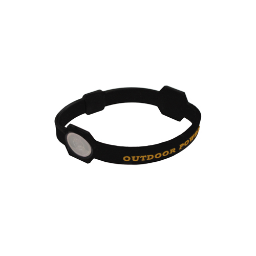 AES Outdoors AES Outdoors Team Realtree Outdoor Power Bracelet Black, Small RT-PB-S-BLK