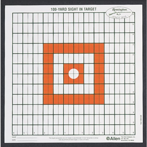 Allen Cases Allen Cases Remington Shooting Targets Remington Grid Style 100yd Sight-In Targets (Per 12) 1520
