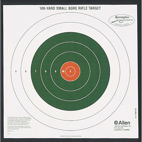 Allen Cases Allen Cases Remington Shooting Targets Remington Bullseye Style 100yd Sight-In Targets (Per 12) 1523