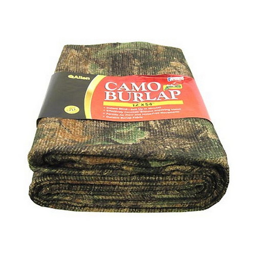 Allen Cases Blind Fabric Camo Burlap Fabric, Oakbrush Green