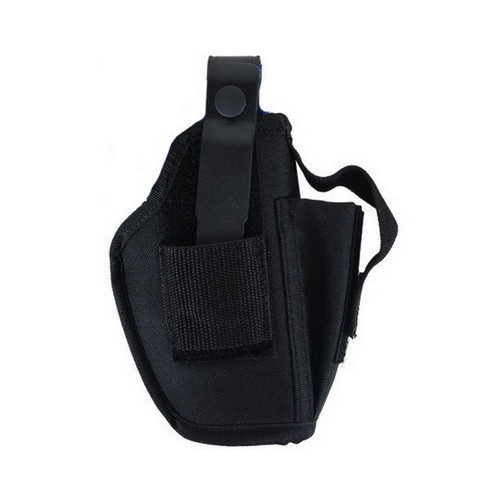 Allen Cases Ambidextrous Hip Holster w/Mag Pouch, Large, Black