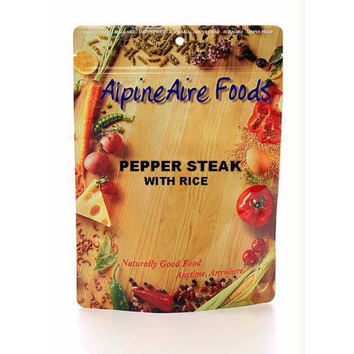 Alpine Aire Foods Alpine Aire Foods Pepper Steak w/Rice Serves 2 10402
