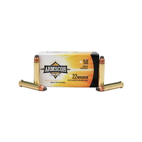 Armscor Precision Inc Armscor Precision Inc 22 Mag 40Gr JHP (Per 50) 50018
