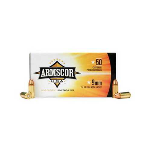 Armscor Precision Inc Armscor Precision Inc 9mm 124Gr FMJ (Per 50) 50041