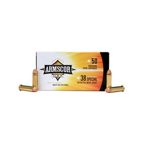 Armscor Precision Inc Armscor Precision Inc 38 Special 158Gr FMJ (Per 50) 50061