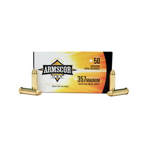 Armscor Precision Inc Armscor Precision Inc 357 Magnum Ammunition 158Gr FMJ (Per 50) 50071