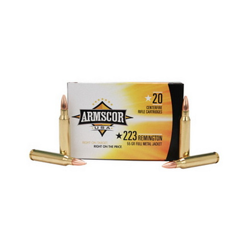 Armscor Precision Inc Armscor Precision Inc 223 Remington Ammuntion 55Gr FMJ (Per 20) 50162