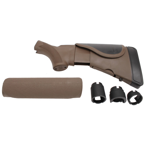 Advanced Technology Intl. ATI Akita Adjustable Stock/Forend with CR/SRS, Dark Earth Brown Mossberg A.1.30.1250