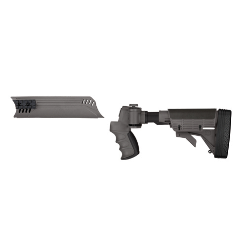 Advanced Technology Intl. ATI Tactical Shotgun Adjustable Side Folding Stock and Forend, Destroyer Gray With Scorpion Recoil System A.1.40.1130