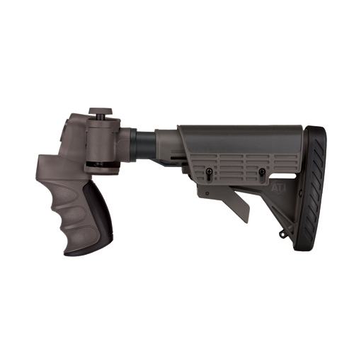 Advanced Technology Intl. ATI Tactical Shotgun Adjustable Side Folding Stock, Destroyer Gray With Scorpion Recoil System A.1.40.1135