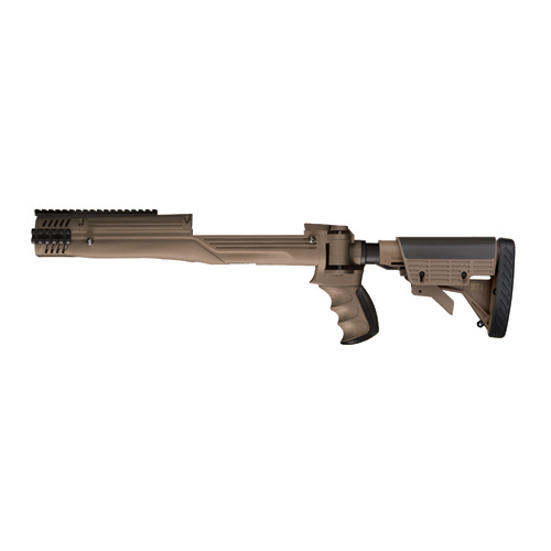 Advanced Technology Intl. ATI Strikeforce Adjustable Stock Mini 14/30, Scorpion Recoil System, Desert Tan A.2.20.1210