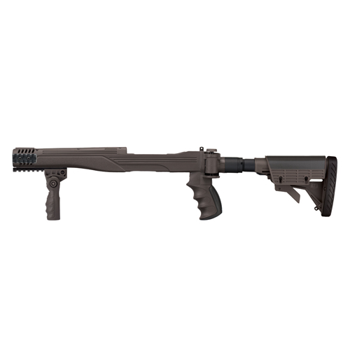 Advanced Technology Intl. ATI 10/22 Strike Force 6 Position Side Folding Stock Plus With SRS/Aluminum Gray A.2.40.1045