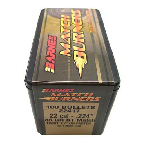 Barnes Bullets Match Burners Bullets 22 Cal .224