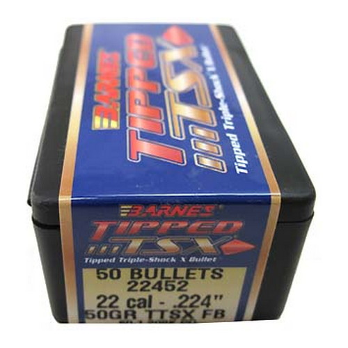 Barnes Bullets Tipped Triple-Shock X Bullets 22 Cal .224