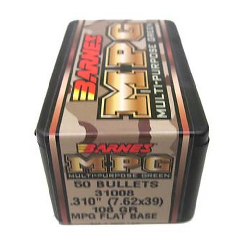 Barnes Bullets Barnes Bullets MPG(Multi-Purpose Green) Bullets 7.62x39 .310