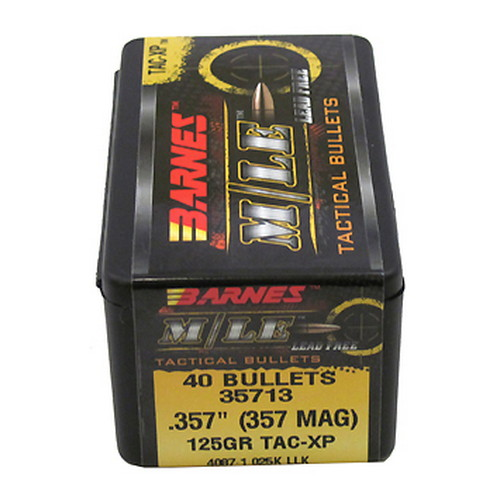 Barnes Bullets 357 Caliber 125 Gr, TAC-XP/40
