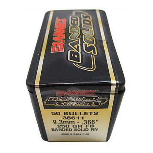 Barnes Bullets Banded Solid Bullets 9.3mm .366
