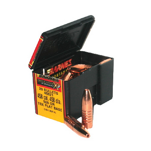 Barnes Bullets 458 Caliber 500 Grain Triple Shok X Flat Base (Per 20)