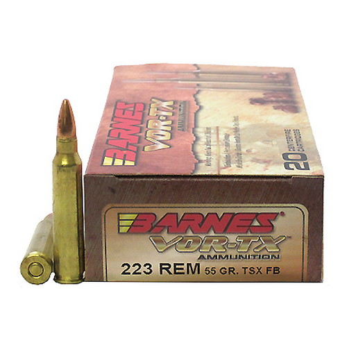 Barnes Bullets VOR-TX 223 Remington TSX 55gr /20