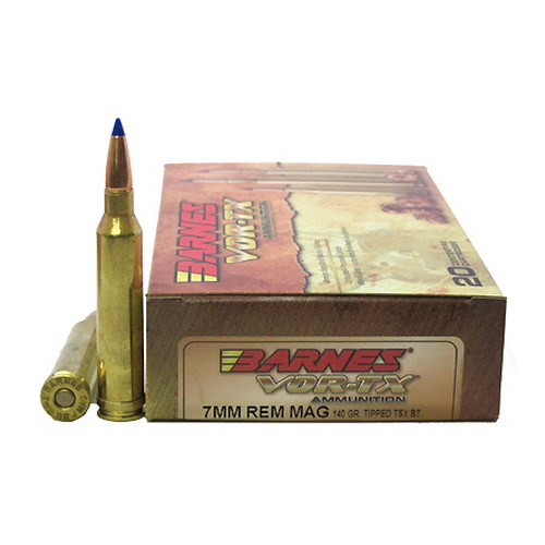 Barnes Bullets VOR-TX 7mm Remington Magnum Per 20 TTSX-BT, 140gr