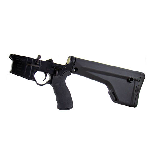 Black Dawn Lower Reveiver Black Dawn Complete Lower with Magpul Fixed Stock with Ergo Grip Pistol Grip, Black