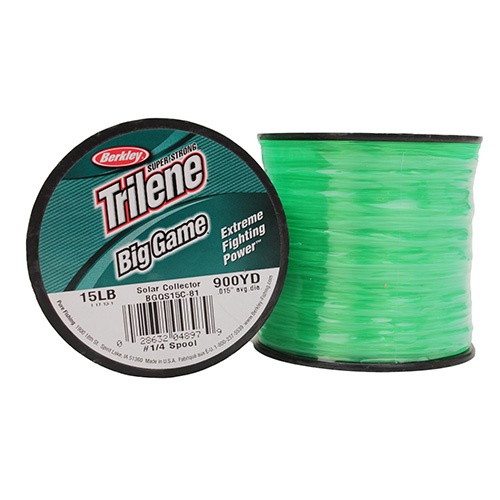 Berkley Berkley Trilene Big Game 1/4 lb Spool 15 lb 900 Yards, Solar Collector 1068362