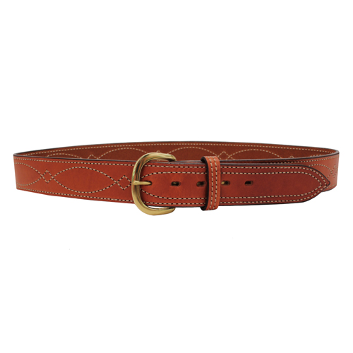 Bianchi Bianchi B9 Fancy Stitched Belt Tan, 46