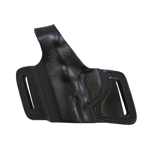 Bianchi 5 Black Widow Leather Holster Plain Black, Size 07, Right Hand