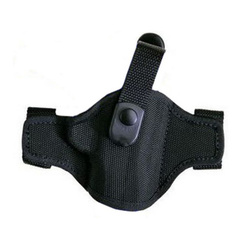 Bianchi Bianchi 7506 AccuMold Belt Slide Holster, Thumb snap Plain Black, Size 08, Right Hand 17860