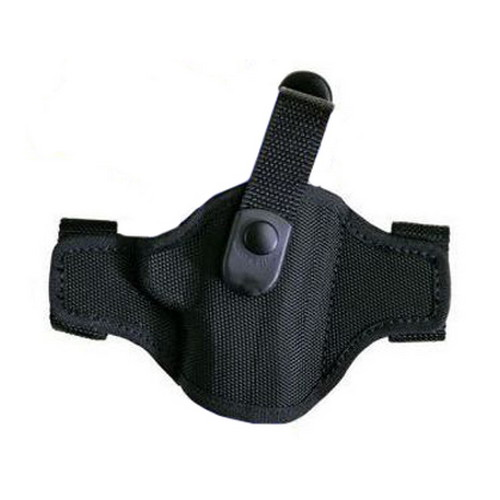 Bianchi Bianchi 7506 AccuMold Belt Slide Holster, Thumb snap Plain Black, Size 15A, Left Hand 17865
