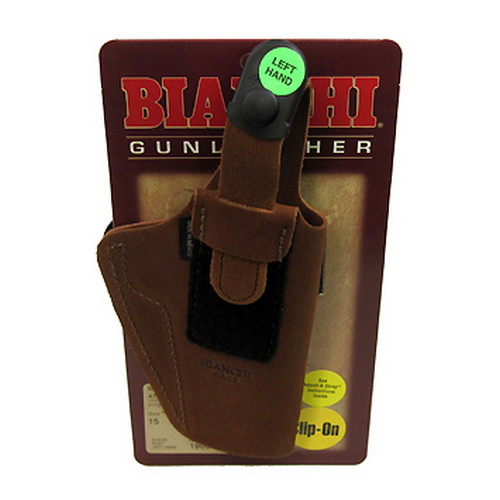 Bianchi Bianchi 6D Deluxe Waistband Holster Natural Suede, Size 15, Left Hand 19051