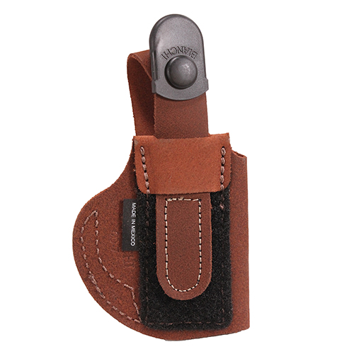 Bianchi Bianchi 6D Deluxe Waistband Holster Natural Suede, Size 07, Left Hand 19055