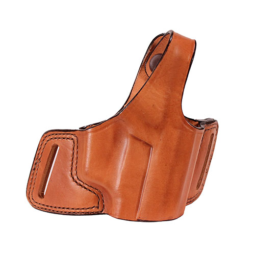 Bianchi 5 Black Widow Leather Holster Plain Tan, Size 16, Right Hand