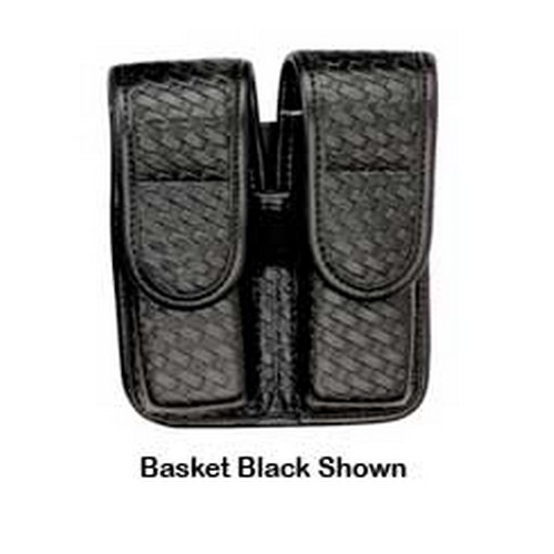 Bianchi Bianchi 7902 AccuMold Elite Double Mag Pouch Size 2, Basket Black, Hidden Snap 22079