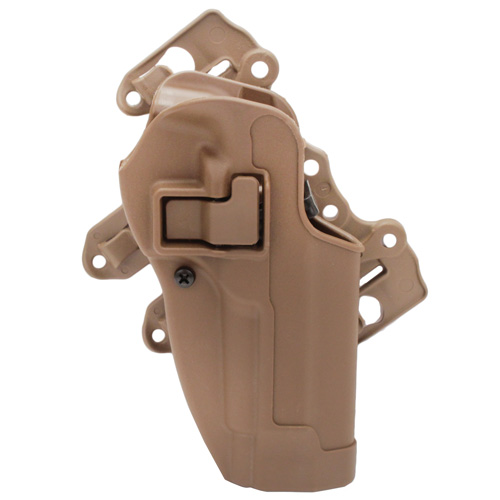 BlackHawk Serpa S.T.R.I.K.E./MOLLE Tactical Holster-Right Hand Tan, Beretta 92/96