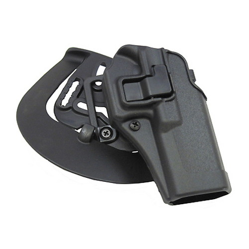 BlackHawk Products Group Serpa CF, Belt & Paddle Holster, Plain Matte Black Finish Glock 17/22/31, Right Hand 410500BK-R